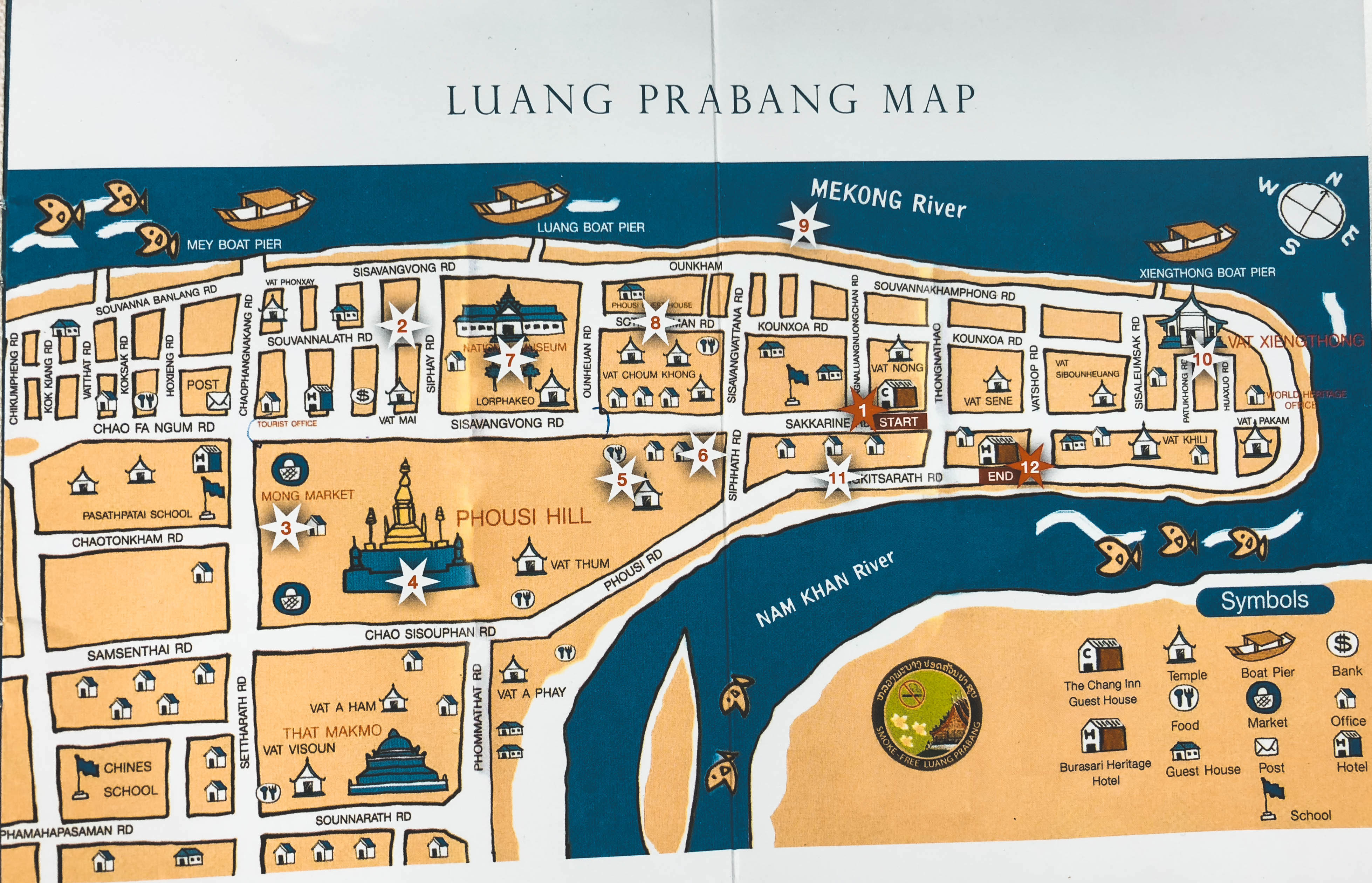 Map Luang Prabang Laos