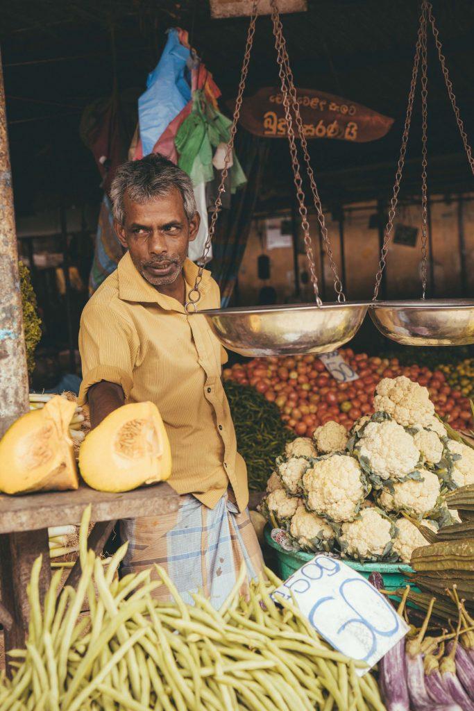 lokale markt in Kandy