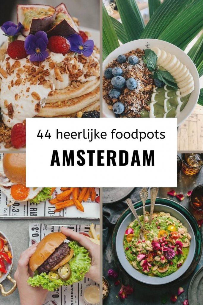 heerlijke foodspots amsterdam pinterest