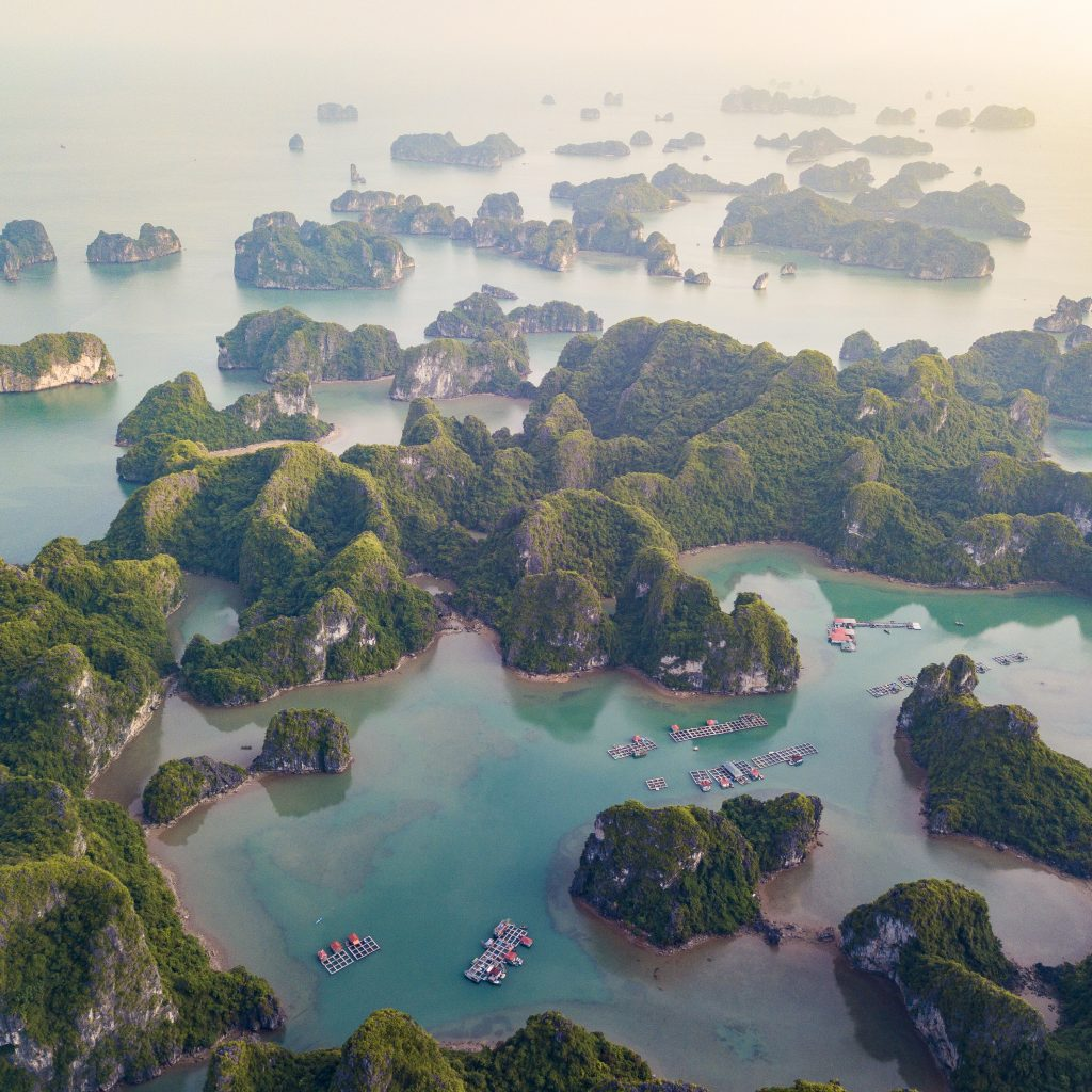 Het indrukwekkende Halong Bay