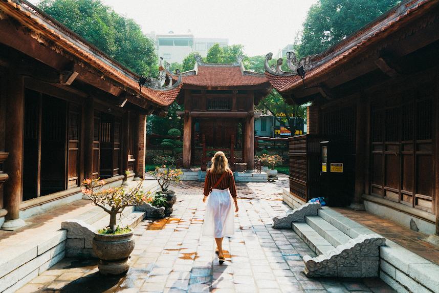 De literatuurtempel in Hanoi
