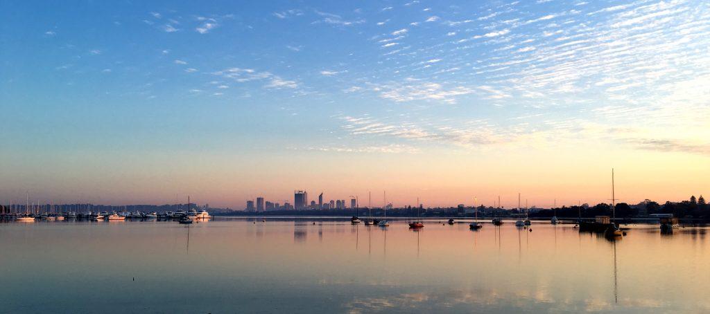 perth swan river sunrise