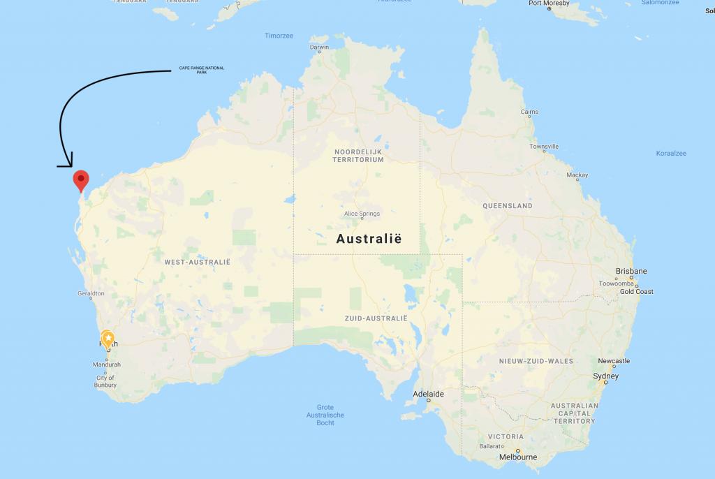 cape range national park map