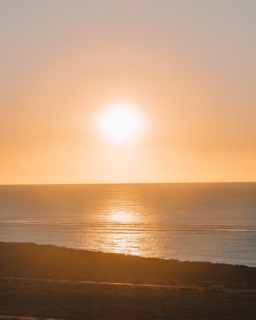 vlaming head lighthouse sunset