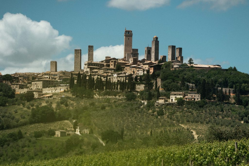 san Gimignano viewpoint toscane